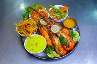 Grilled Tiger Prawns