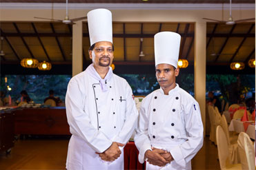Executive chef and sous chef of Golden Grill