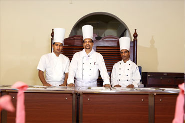Executive, sous and prep chefs of Golden Grill Restaurant
